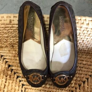 Michael Kors Brown Logo Flats
